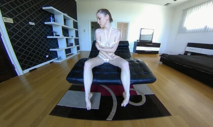 VR Porn POV Photographer - Leather Lounge