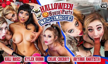 VR Porn Halloween House Party: Cum-Slinger