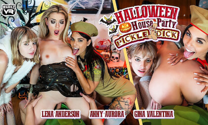 VR Porn Halloween House Party: Pickle-Dick