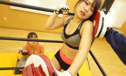 VR Porn Yuka Asami, Rika Mochida – Leg-Stretching, Tit-Shaking Sparring at the Gym Part 2