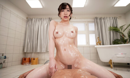 VR Porn Manami Ooura – Bareback Creampie Sex with Busty Soapland Girl Part 2