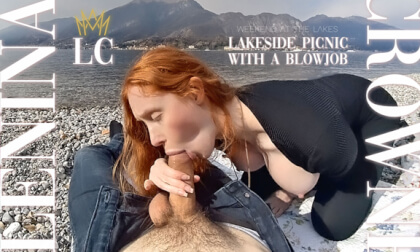 VR Porn Lakeside Picnic with a Blowjob