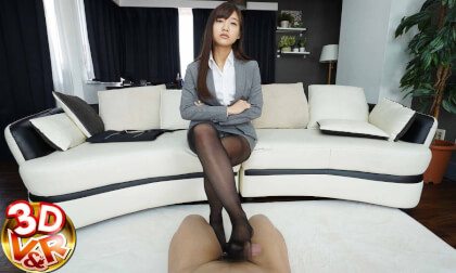 VR Porn Ai Hoshina – [VR for Masochistic Men] Former Bad Girl in Pantyhose Looking Down on Me Part 1