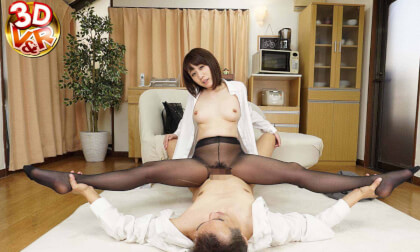 VR Porn Ririka – Masturbation Practice with a Teacher in Black Pantyhose Part 2