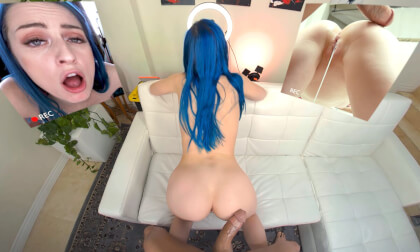 VR Porn Blu on the Casting Couch
