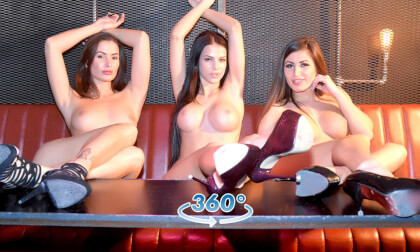 VR Porn Private Striptease wih 3 Girls