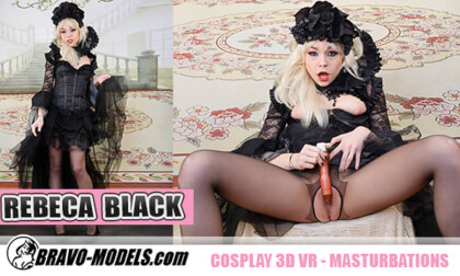 VR Porn Cosplay Hottie Rebeka Black Gets Off