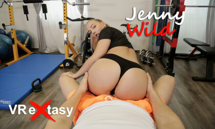 VR Porn Jenny Wild - Passionate Sex after Hard Training