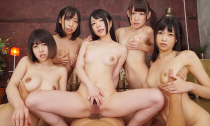 VR Porn Five Girls, Ten Holes, Creampie Anal Harem Part 2