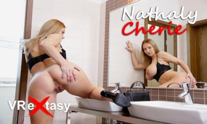 Nathaly Cherie - Masturbation after Restaurant Dinner