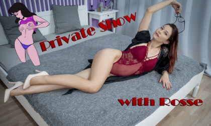 VR Porn Private Show With Rosse