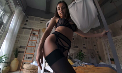 VR Porn Sheer Sexy Schoolgirl
