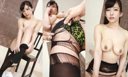VR Porn Kazuha Mizukawa – Ripping Off her Black Pantyhose