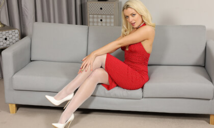 VR Porn Grace Lily - Red Dress and Pantyhose