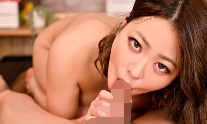 VR Porn Kaho – Horny Brunette Kaho Comes Over and Over Again with Big Shaking Tits