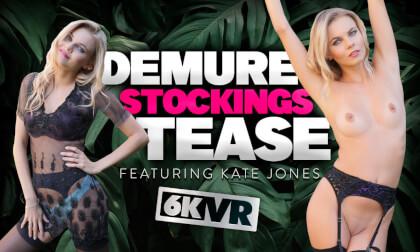 VR Porn Demure Stockings Tease
