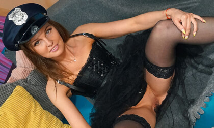VR Porn Kity Likes Playing Dress Up And Today She Has Her Police Officer Uniform On
