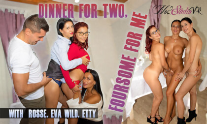 VR Porn Dinner For Two, Foursome For Me