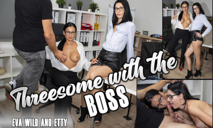 VR Porn Threesome With The Boss