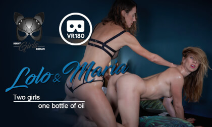 VR Porn Two Girls One Bottle Of Oil