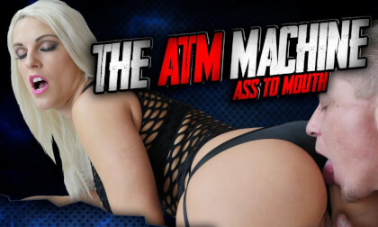ATM Machine Blanche Bradburry does Ass To Mouth