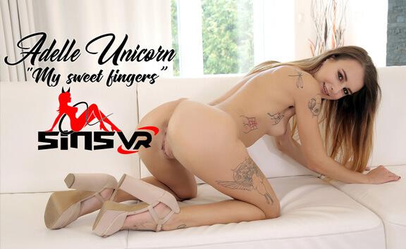 VR Porn Adelle Unicorn - My Sweet Fingers