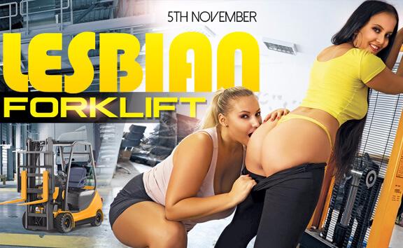 VR Porn Lesbian Forklift