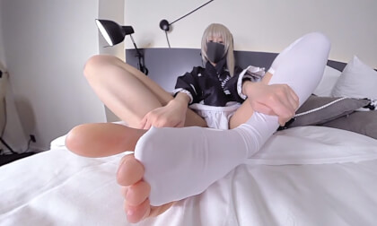 VR Porn Erika - Cosplay Footfetish 3