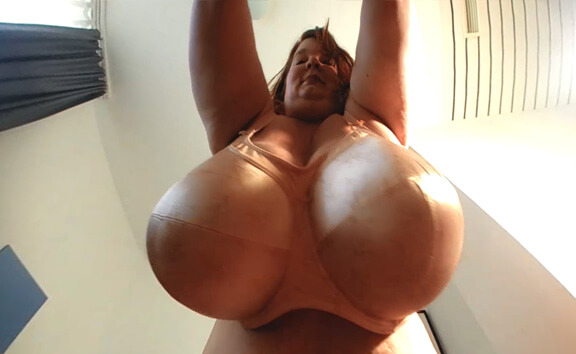 VR Porn Lexxxi's Giant Breasts from Below