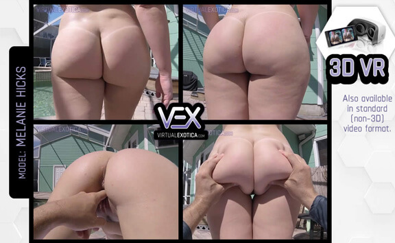 VR Porn Melanie Hicks Ass Worship in the Sun