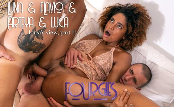 VR Porn Luna & Flavio & Arteya & Luca - POV One, Part II