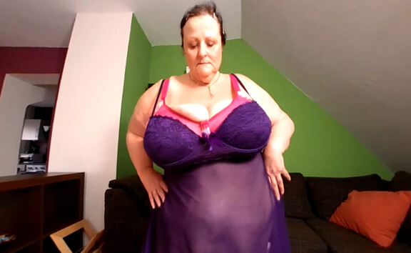 VR Porn Sharon's Purple Lingerie Stripe