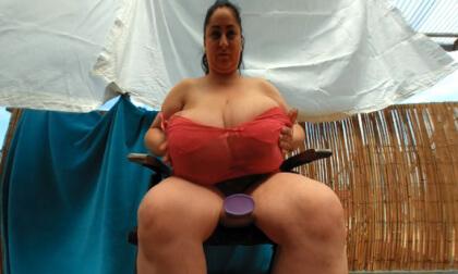 VR Porn Alice's Big Breasts Massage on the Balcony
