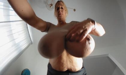 VR Porn Emilia's Big Boobs in Sheer Tops